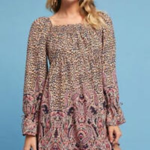 Anthro Maeve Miley Paisley Peasant Dress Size S
